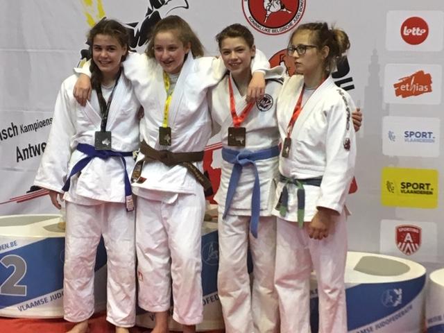 Podium Belgisch Kampioenschap judo 2019 te Antwerpen